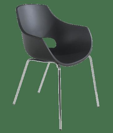 Кресло Papatya Opal матовый антрацит, база хром, фото 2