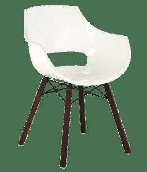 Кресло Papatya Opal Wox Iroko белое, фото 2
