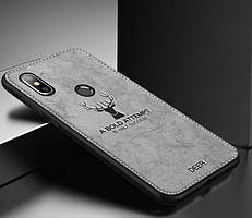 Чехол Deer для Xiaomi Redmi Note 5 / Note 5 Pro Global бампер накладка Серый