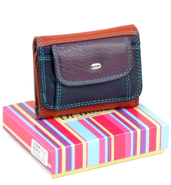 fd2207136d36 Женский кожаный кошелек Rainbow от dr.Bond WRS-7 violet - Arion-store