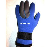 Перчатки неопреновые для дайвинга и охоты  ANT W-903 с подкладкой из плюша 5 мм.