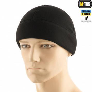 M-TAC ШАПКА WATCH CAP PREMIUM (ПЛОСКИЙ ШОВ) ФЛИС (343Г/М2) BLACK