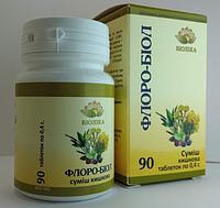«Флоро-биол» таб 90 шт - при метеоризме, колите, дисбактериозе кишечника, энтероколите