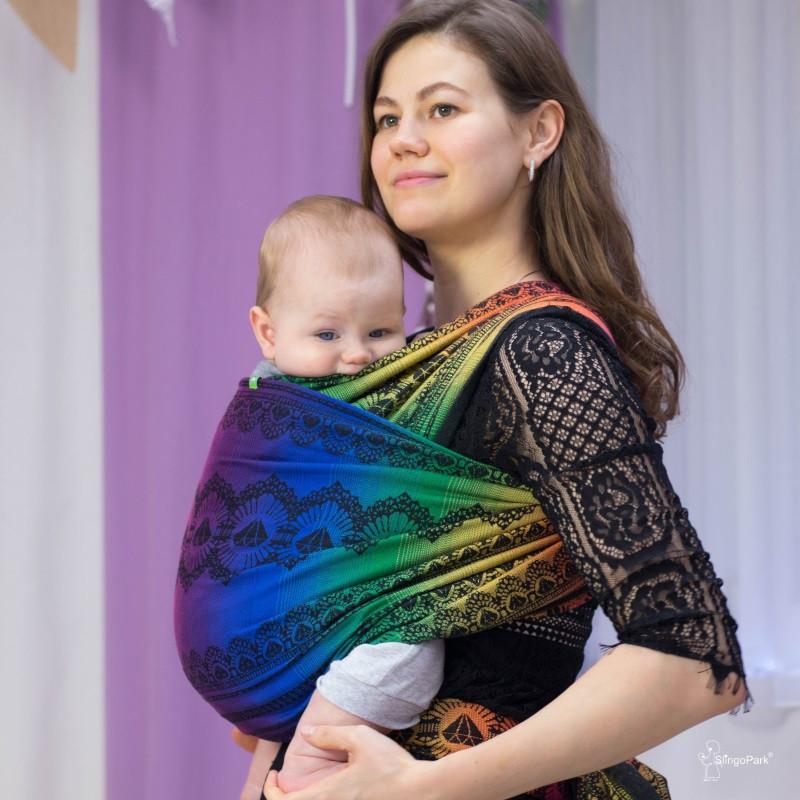 Слинг-шарф LUNA DREAM Diamond Lace Rainbow Chic (4,2 м)