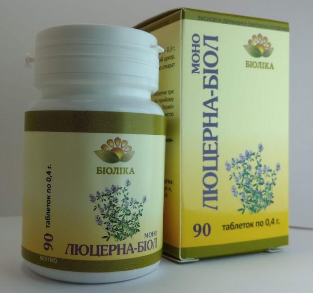 «Моно-биол Люцерна» таб 90 шт- для уменьшения болей в суставах, ревматических