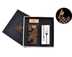 USB зажигалка в подарочной упаковке Электроимпульсная
