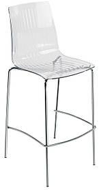 Барний стілець Papatya X-Treme BSL прозоро-чистий
