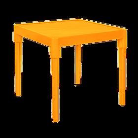 Стіл дитячий квадратний світло-оранжевий