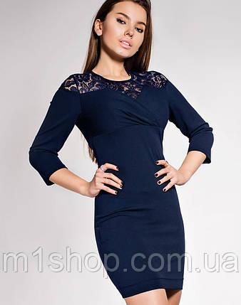 Женское платье-мини с гипюром (Картье jd), фото 2