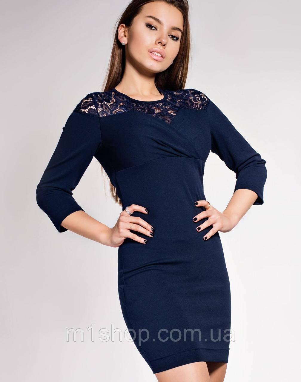 Женское платье-мини с гипюром (Картье jd)