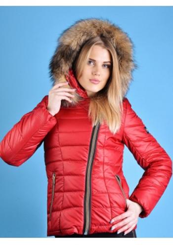89cc9c924e7 Купить Стеганая зимняя куртка с мехом (бордовый) 81339 Украина ...