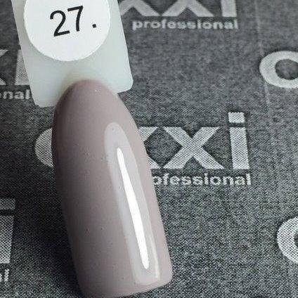 Гель-лак Oxxi professional(10 мл) №027(светлый коричнево-серый, эмаль)