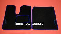Автомобильные ковры на MAN TGХ Механика водитель+пассажир синие