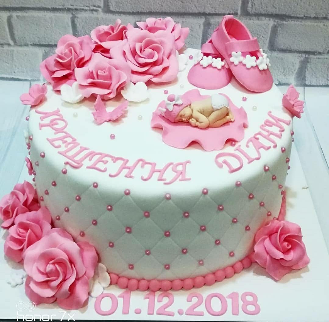 Торт на Крещение девочки 2