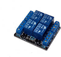 Модуль реле четырехканальный для Arduino 5V 4-Channel Relay Module Switch Board for Arduino PIC ARM AVR DSP PL