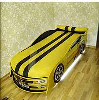 Кровать машина Комаро желтая