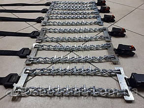 Браслеты противоскольжения Универсальные PREMIUM ХL,цепи на колеса, антипробуксовочные цепи, зима,снег 205-225
