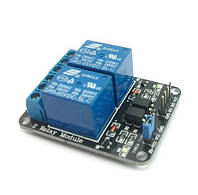 Модуль реле 5V 2 канальный  Arduino ARM AVR PIC DSP Electronic 10A SainSmart Relay Module Shield     Модуль мо