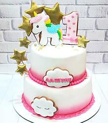 Торт на годик девочке 1
