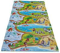 Детский теплоизоляционный развивающий игровой коврик «Мадагаскар» 1500×1200×8мм, ХС ППЭ