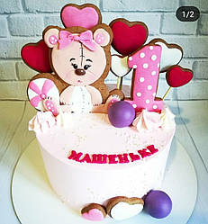 Торт на годик девочке 2