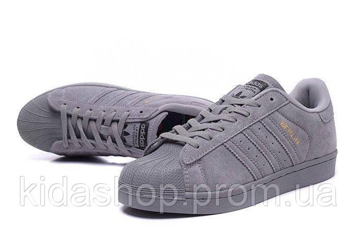 30c98a7d1 Женские кроссовки Adidas Superstar Suede Soft Grey W, цена 1 199 грн.,  купить в Киеве — Prom.ua (ID#864379428)