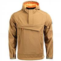 Куртка анорак M-Tac Fighter Soft Shell койот / оранжевая