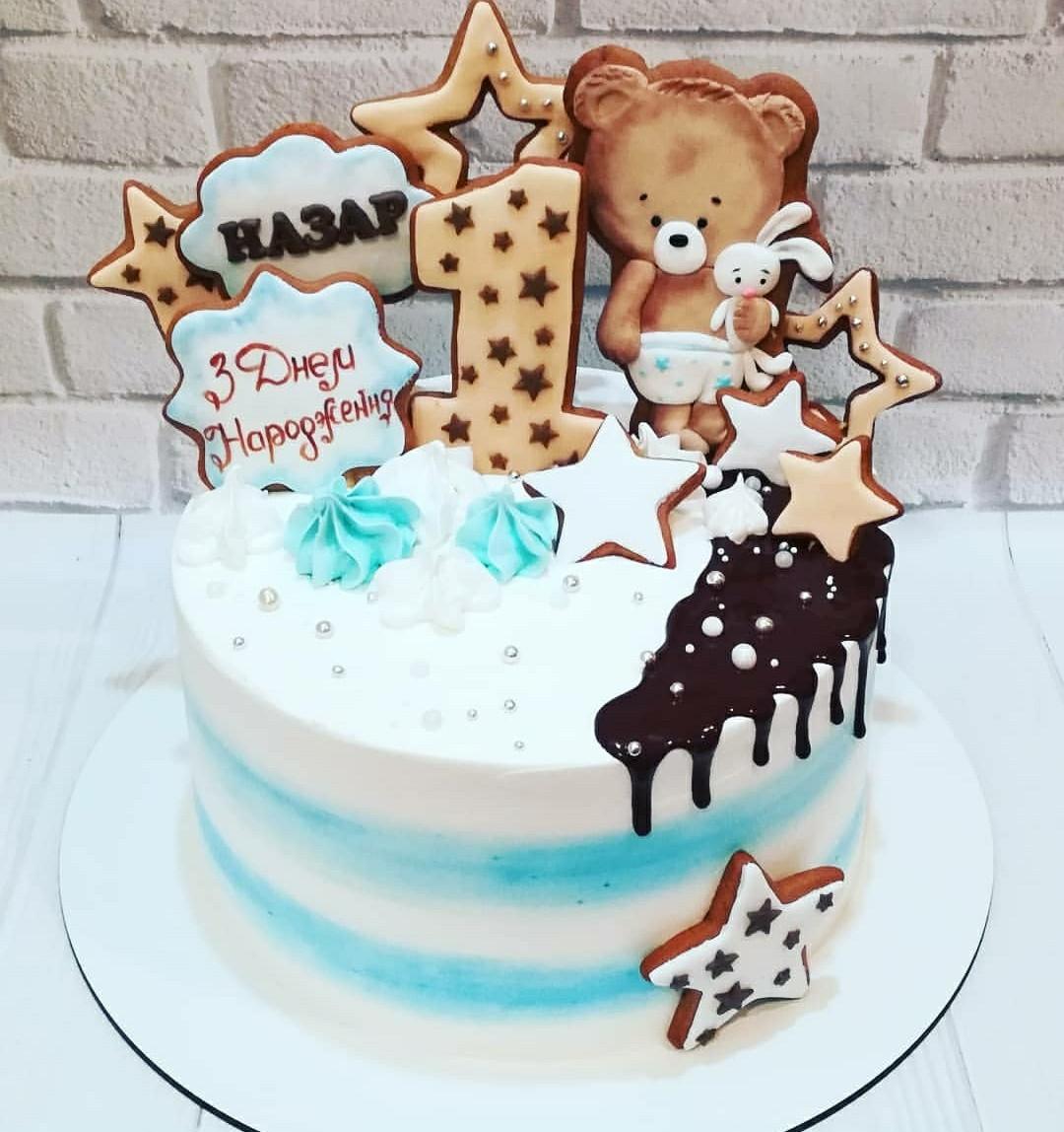 Торт на годик мальчику 1