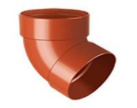 Отвод водосточной трубы RainWay 75мм двухмуфтовый 67 градусов