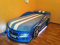 Кровать машина Bmw синий
