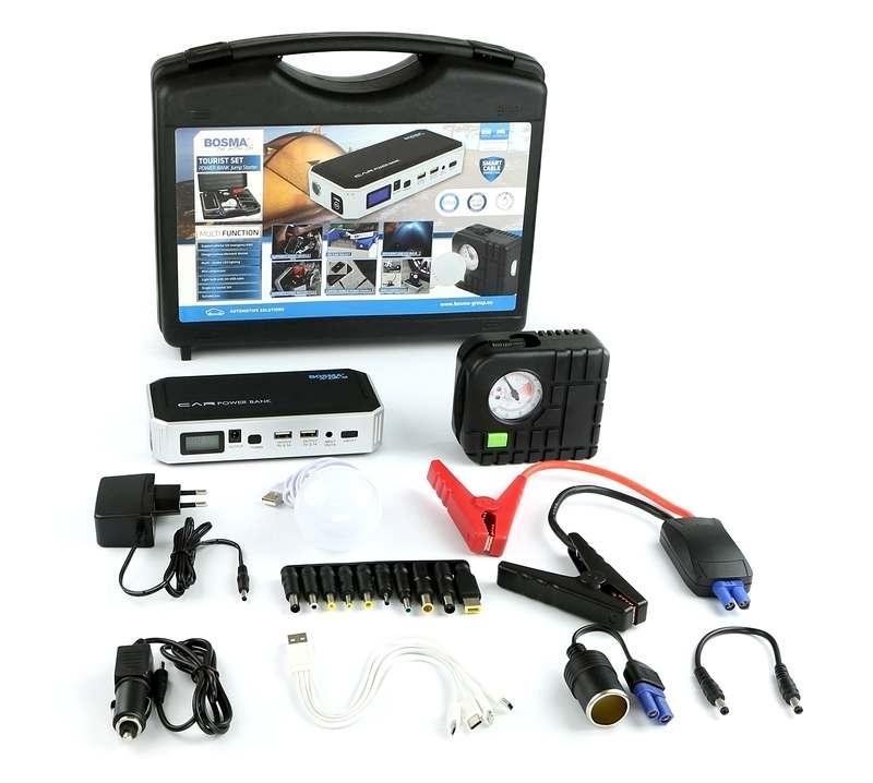 Пуско-зарядное устройство Bosma Jump starter 18000mAh With 12V 600A Tourist Набор с компрессором