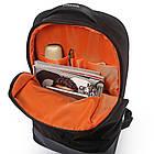 Рюкзак Casual с накидкой от дождя серый, фото 5