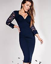 Женское облегающее платье с глубоким декольте (Лазури jd), фото 2