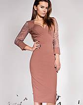 Женское облегающее платье с глубоким декольте (Лазури jd), фото 3