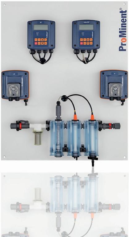 Контрольно-измерительная и  дозирующая система для бассейна