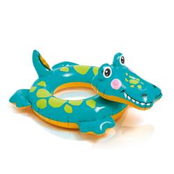 Детский надувной круг для плавания Intex 58221 «Крокодильчик», 71 х 56 см