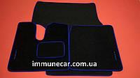 Авто ковры велюровые на MAN TGA (широкая кабина) XXL синие