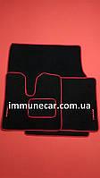 Авто ковры текстильные на MAN TGA (широкая кабина) XXL красные