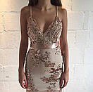 Платье с пайеткой на тонких регулируемых бретелях, фото 5