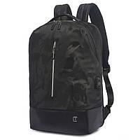 Рюкзак Casual с накидкой от дождя черный хаки