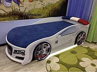 Кровать машина Audi белый, фото 1