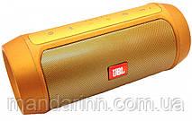 Портативная акустическая система колонка JBL Charge 2+ с поддержкой Bluetooth - золото