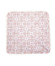 Чехол на табурет 32х32см розовый узор