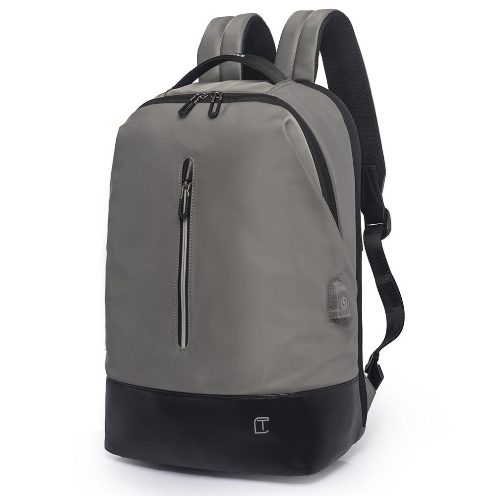 Рюкзак Casual с накидкой от дождя серый