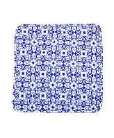 Чехол на табурет 32х32см синий узор