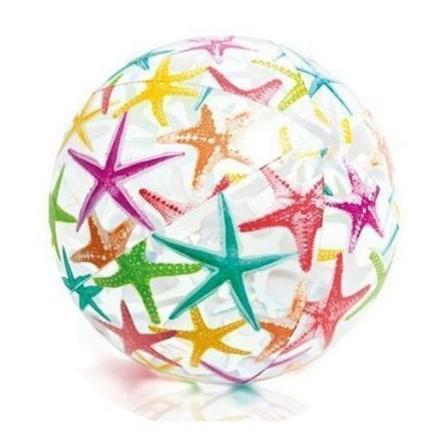 Надувной мяч Intex 59040 «Морские звездочки»  для игры на воде, 51 см