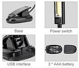 Светодиодная USB лампа для чтения на прищепке 150LM, фото 4