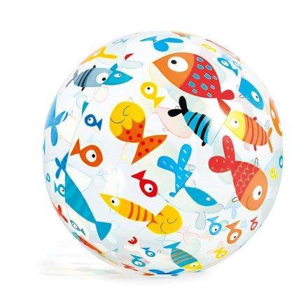 Надувной мяч Intex 59050  «Рыбки» для игры на воде, 61 см
