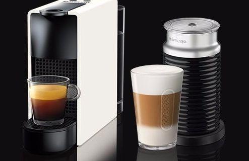 Капсульна кавоварка Nespresso Essenza Mini C30 White + Капучинатор Nespresso Aeroccino 3