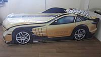 Кровать машина Мерседес желтый